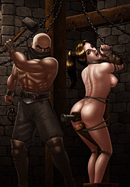 BDSM comics - Hammering the point by Ferres