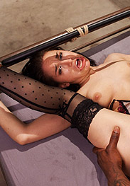 Gabriella Paltrova's anal invasion - Hard intense anal pounding by huge black cock by Sex and submission